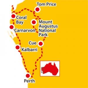 mt augustus, karijini, coral bay, tom price, kalbarri, cue, tours to karijini, seniors tours wa, pinnacles,