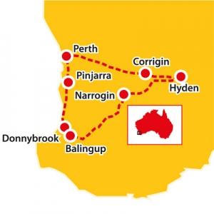 Wave Rock, tours to wave rock, tours to Balingup, seniors coach tours australia, coach tours to balingup, seniors tours to western australia, aussie redback tours