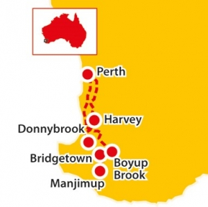 manjimup cherry festival, gnomes, gnomesville, donnelly river, tours to manjimup, seniors tours wa, tours for seniors australia