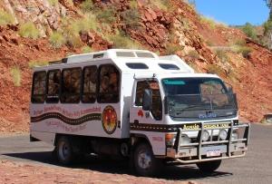 Albert, Aussie Redback Tours, our bus, Albert the bus